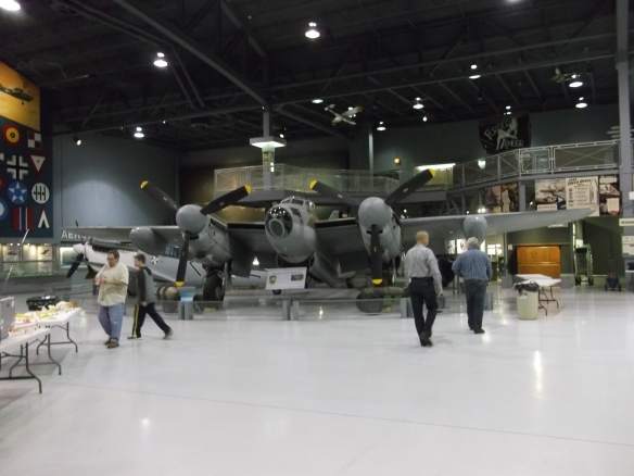WWII aircraft (RAF Mosquito) in the Eagle Hangar.