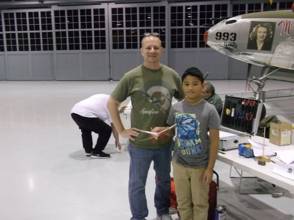 Mike Kirda and son Raymond with Delta Dart.