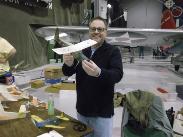 Jack Tisani shows off his scale models